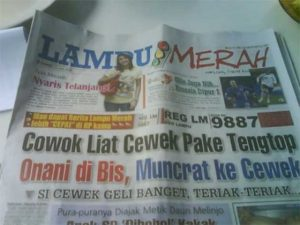 Penampakan koran Lampu Merah sebelum jadi Lampu Hijau (foto: malesbanget.com)