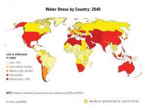 Indonesia masuk dalam kategori beresiko tinggi (sumber: WRI.org)